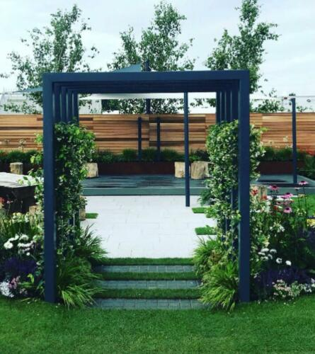 Landscaping Paving planting garden design structure patio