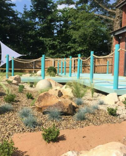 landscaping groundworks planting garden design rockery